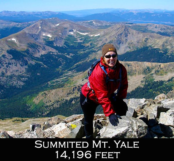 DeDe climbing mountains