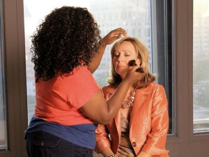 DeDe Murcer Moffett SNAP makeup session getting ready for live recording