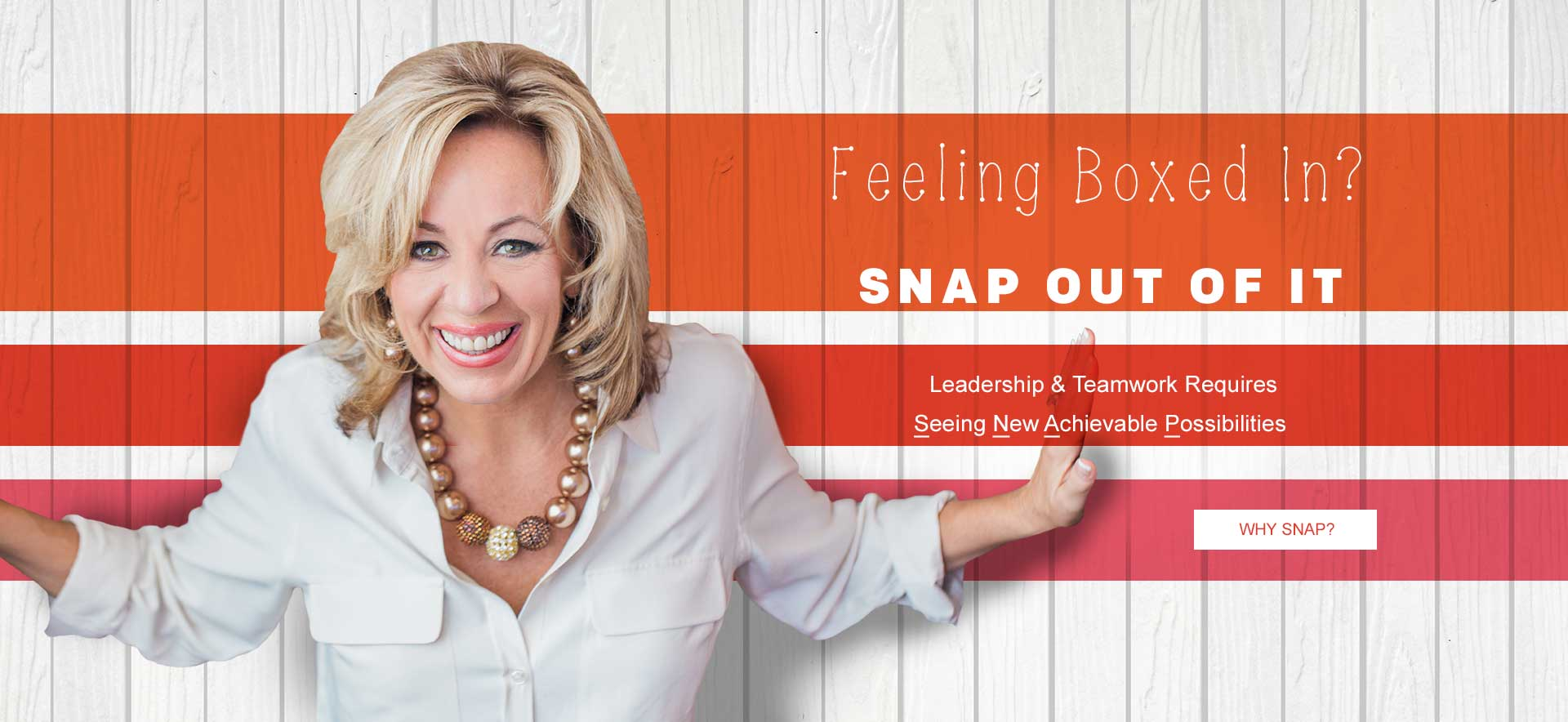 Snap out of it keynote speaker dede murcer moffett leadership and teamwork expert
