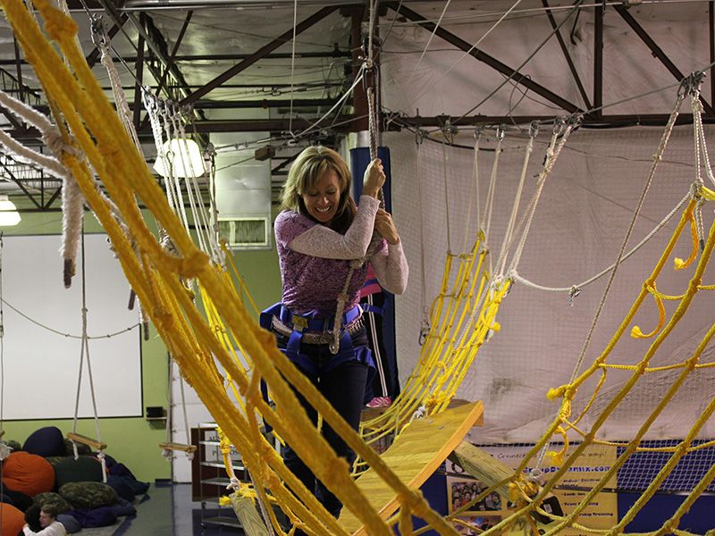 DeDe Murcer Moffett SNAP Ropes Course training to build confidence